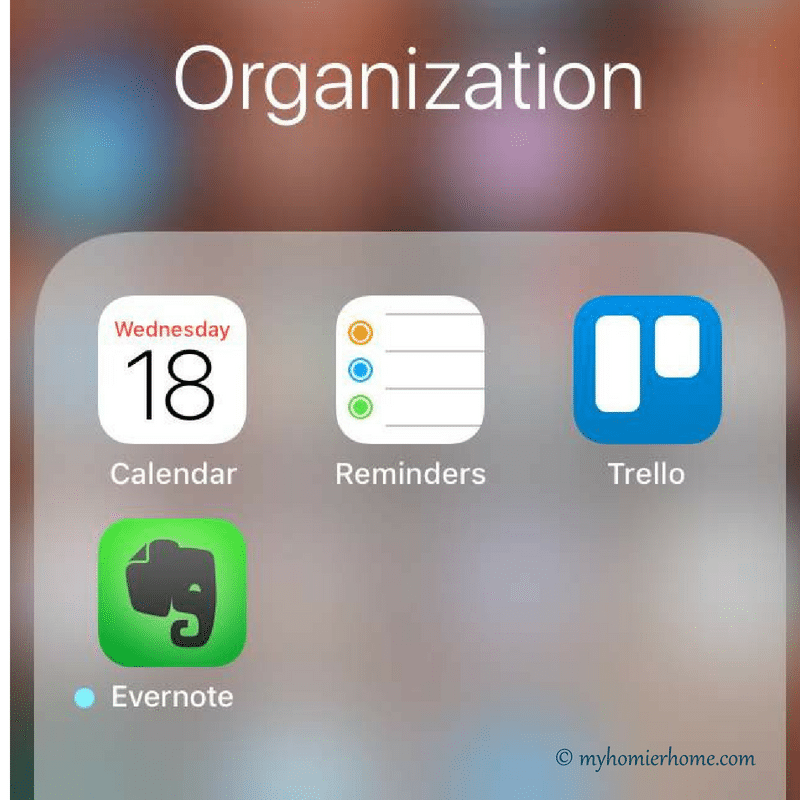 4 Ways to Keep your Home and Life Organized: iCal, Reminders, Trello, Evernote