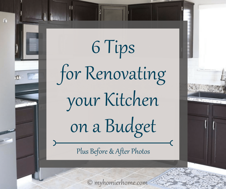 6 Tips for Renovating your Kitchen on a Budget