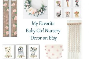 My Favorite Baby Girl Nursery Decor Finds on Etsy