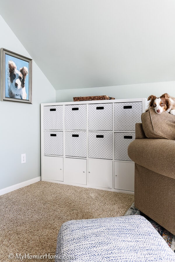 This sweet little boy is the prime feature in this bonus room makeover final reveal.