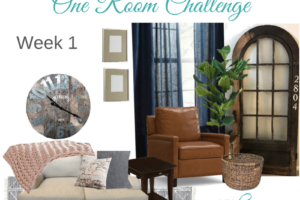 Cozy & Rustic Living Room Refresh | One Room Challenge Week 1