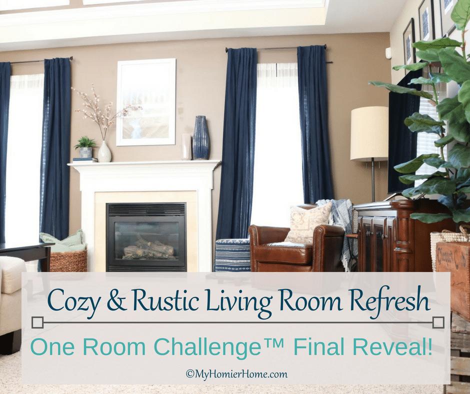 Stupendous Cozy Rustic Living Room Refresh One Room Challenge Final Download Free Architecture Designs Rallybritishbridgeorg