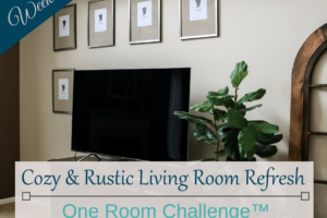 Cozy & Rustic Living Room Refresh ORC Week 3 - Featured