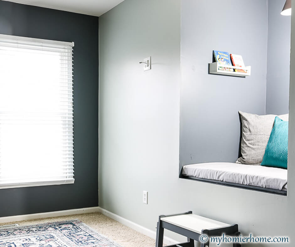 Not sure what to do with that awkward old TV cutout in your wall? Repurpose it fora DIY reading nook! It'll make the cutest place to read for all!