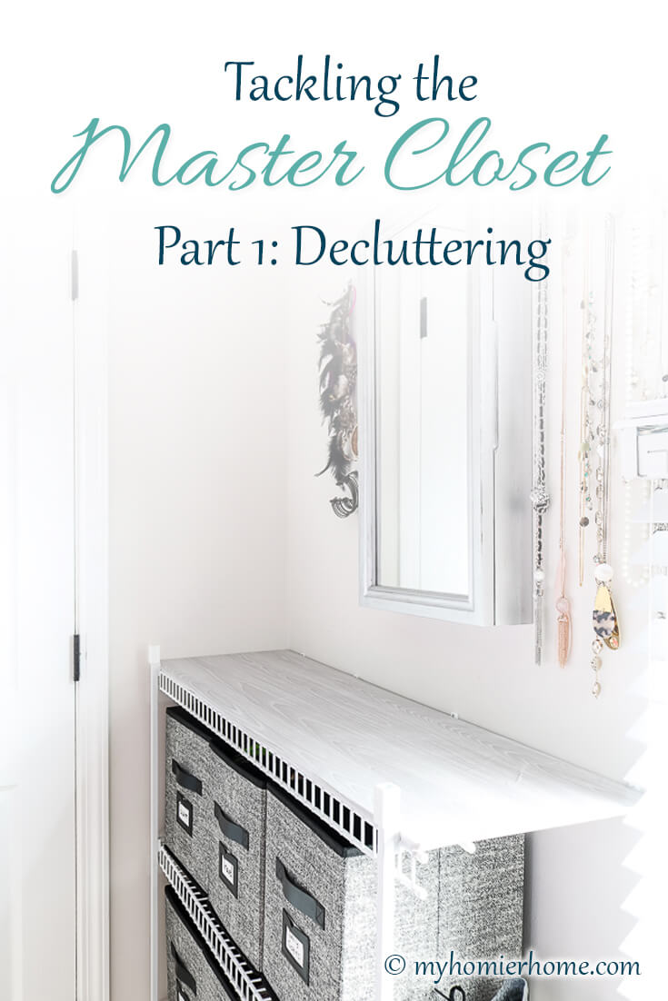 Is your closet overflowing? Find out how to declutter the master closet in this post, so you can gain back space, time, and love for your closet.