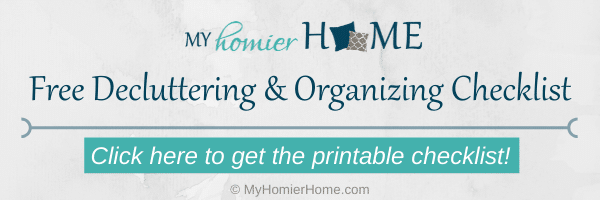 Get your decluttering and organizing checklist to get a quick win!