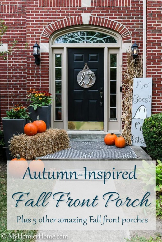 This round up of beautiful, but unique fall front porch decor will have you swooning. Come gather all the inspiration you need to make your fall front porch stand out.