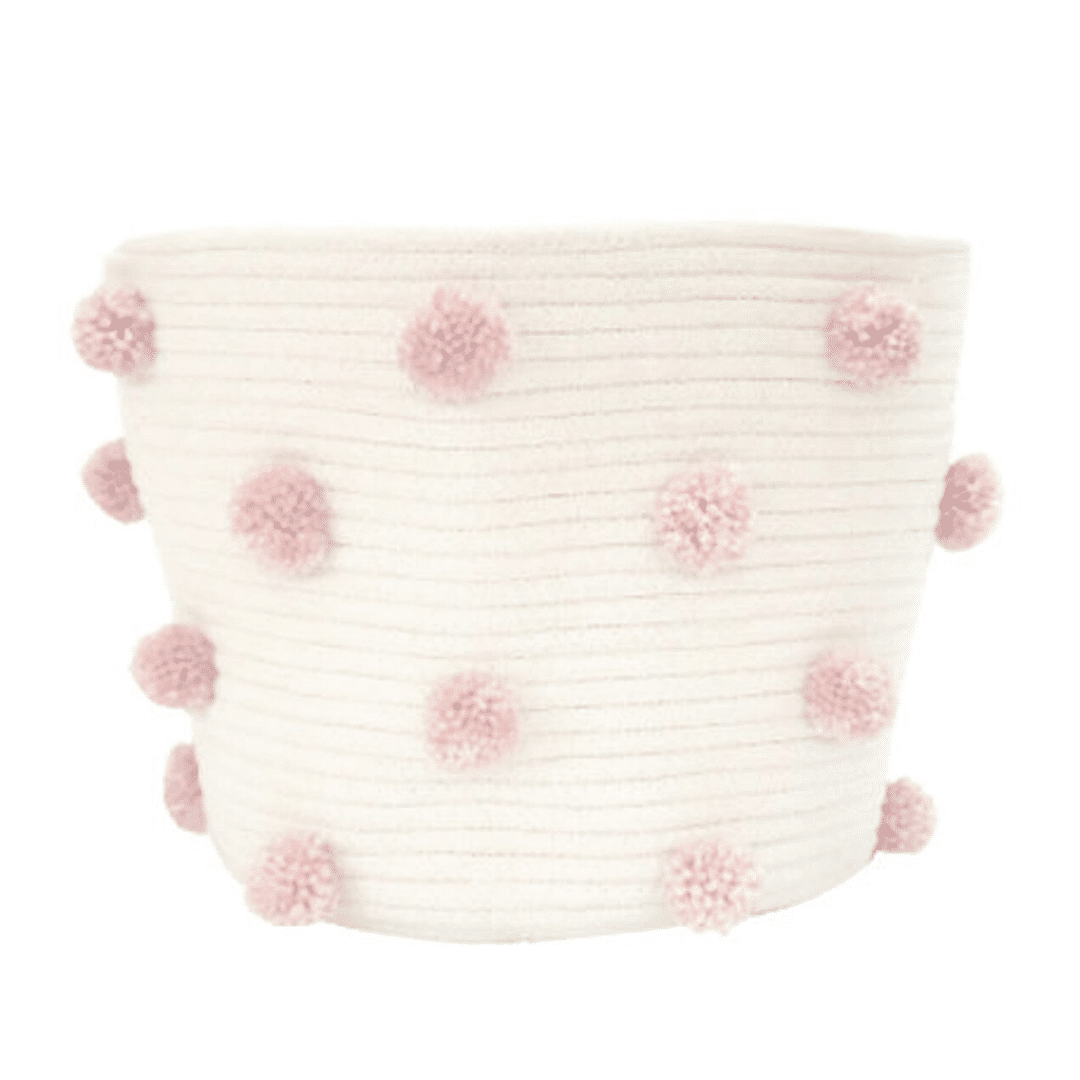 Girl Nursery Decor - Pom Pom Basket