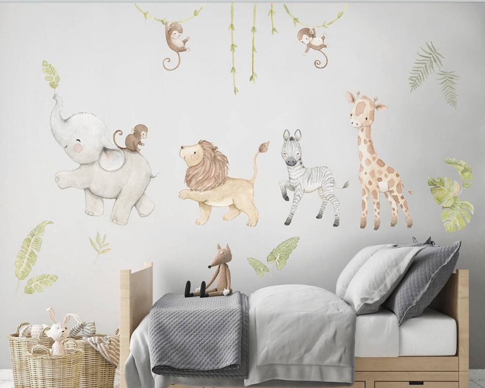 Girl Nursery Decor - Safari Decals