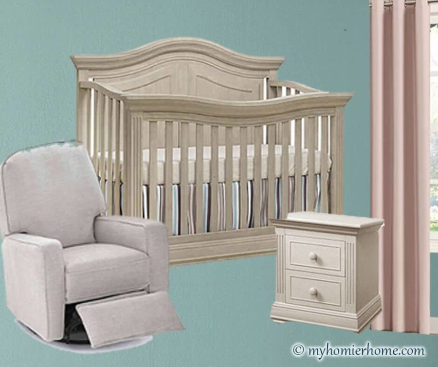 Baby Girl Nursery Ideas   Accent Walls, Animal Themes, & Beautiful Pinks