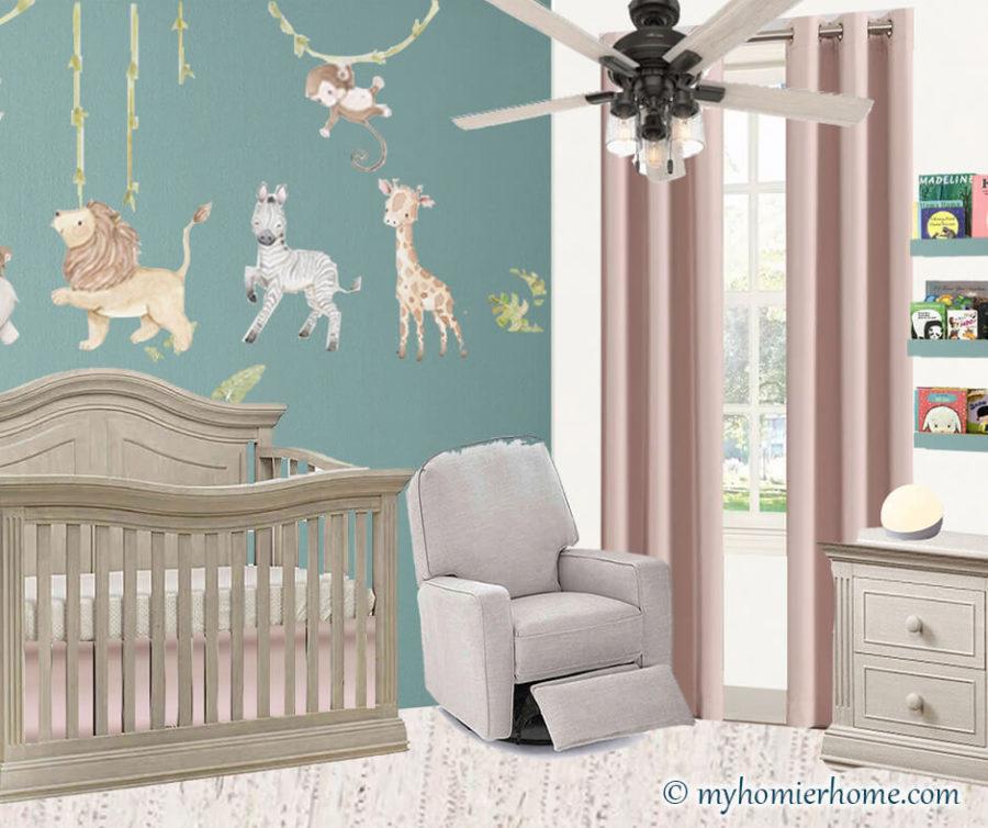Baby Girl Nursery Mood Board + Before Photos