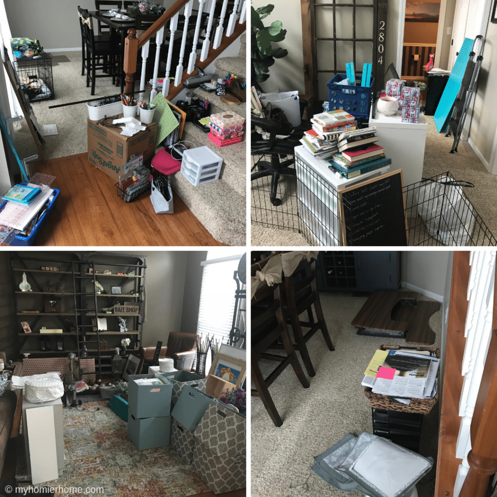 Oh the horror! My attempt at decluttering made more of a mess than I had anticipated! The time is now to fix this once and for all!! Big reveal coming soon :)