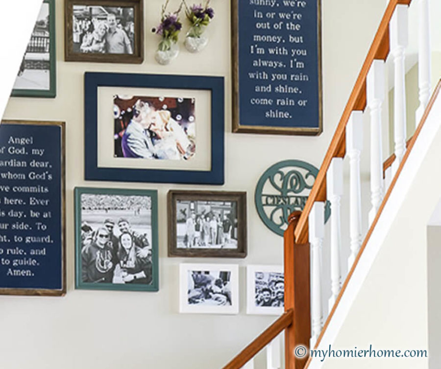 How to Hang a Gallery Wall on Stairs