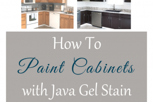 How to Paint Cabinets with Java Gel Stain