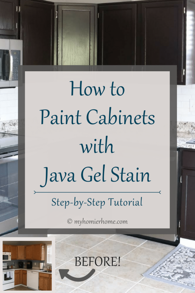 How to Paint Cabinets with Java Gel Stain.