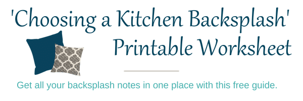 Kitchen Backsplash Notes
