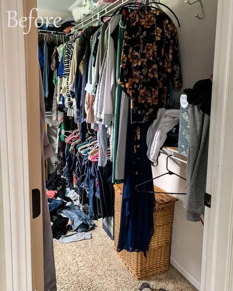 Master Closet Declutter Before Photo 1