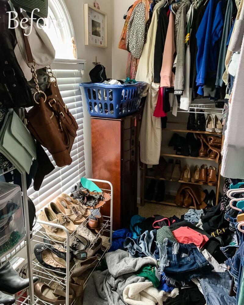 Master Closet Declutter Before Photo 3
