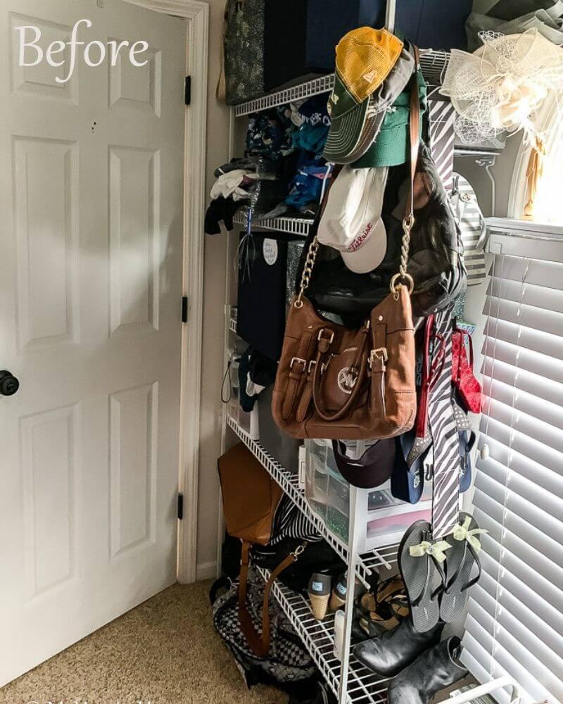 Master Closet Declutter Before Photo 7