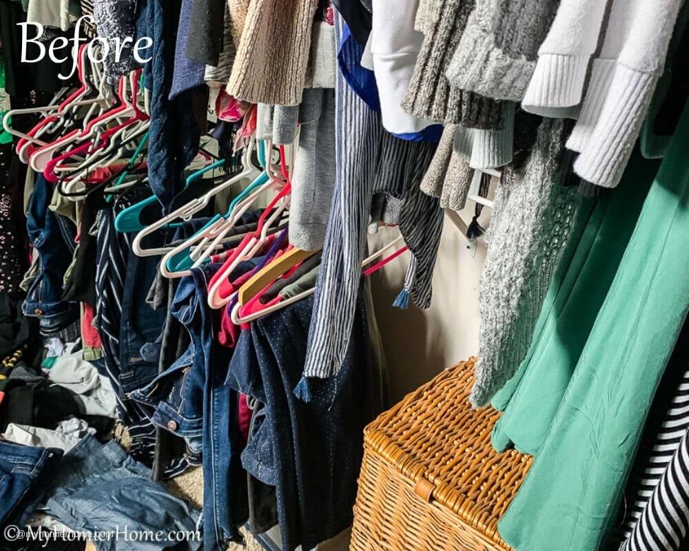 Master Closet Declutter Before Photo 6