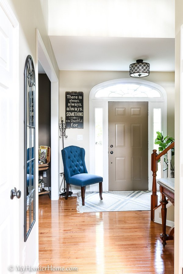 Check out the transformation of our front entryway into a modern vintage beauty - After Photo