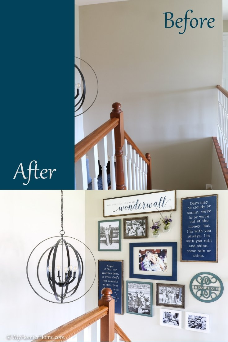 Check out the transformation of our front entryway into a modern vintage beauty.