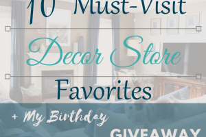 My 10 Must-Visit Decor Store Favorites + A Giveaway!