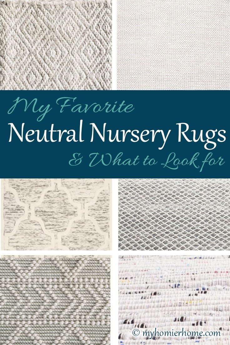 Choosing a rug for your baby's nursery can be daunting. Check out my top 6 picks for our nursery plus what you should look for when choosing your own.