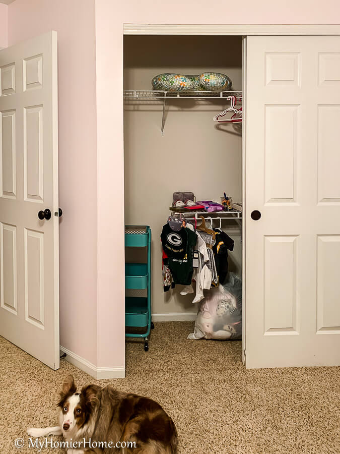 From dysfunctional to beautiful open concept closet, come check out the before & afters of our nursery closet reveal including notes on how we did it!