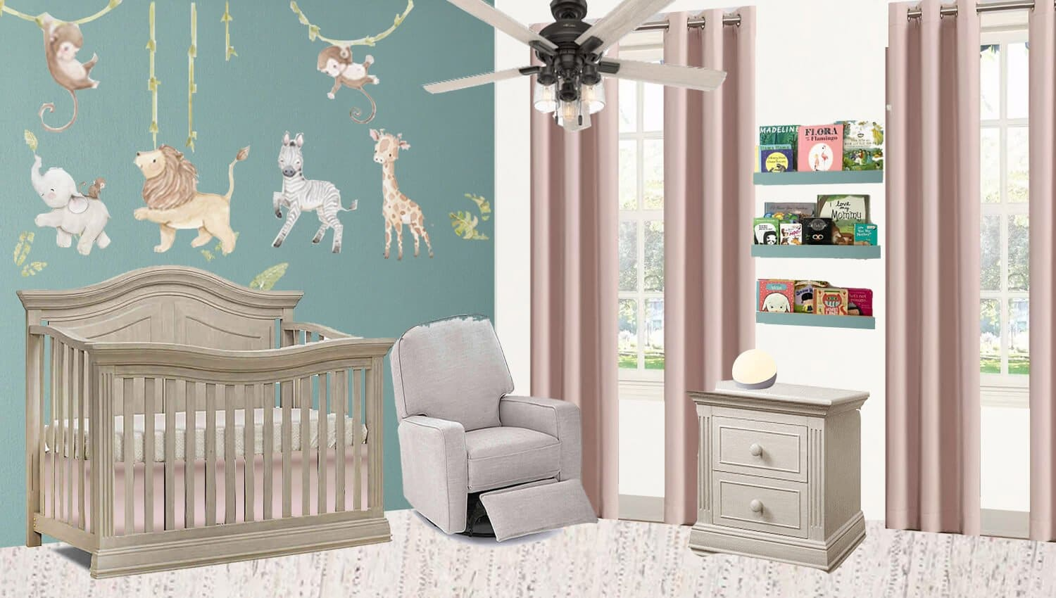 I have completed our baby girl's nursery mood board to share with you today along with the before photos. I can't wait to share the finished product with you in the next month. Come see what I have planned!