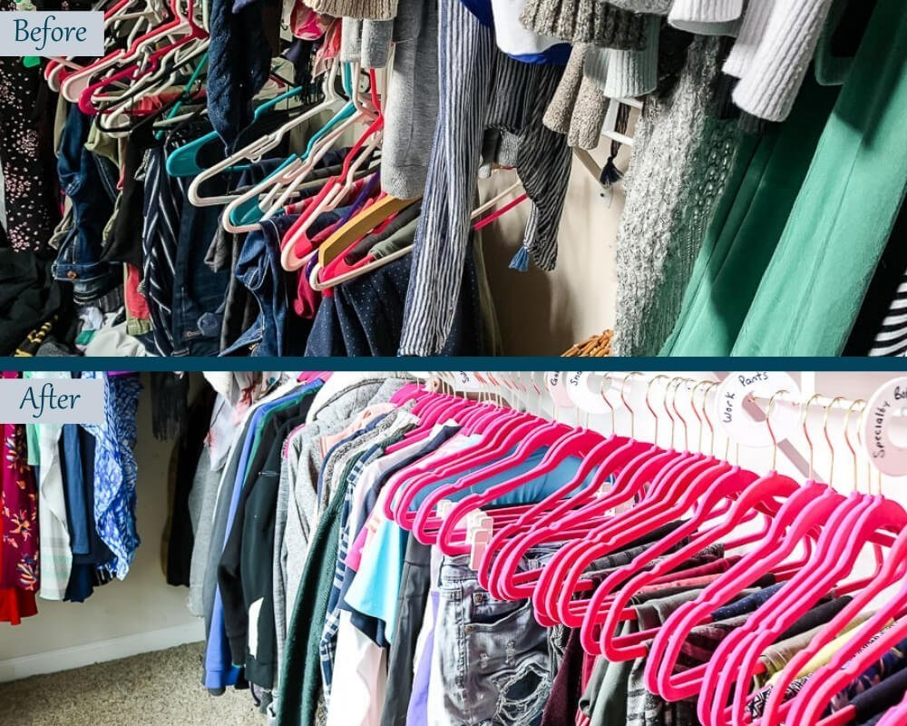 Organize Master Closet - Before & After 4