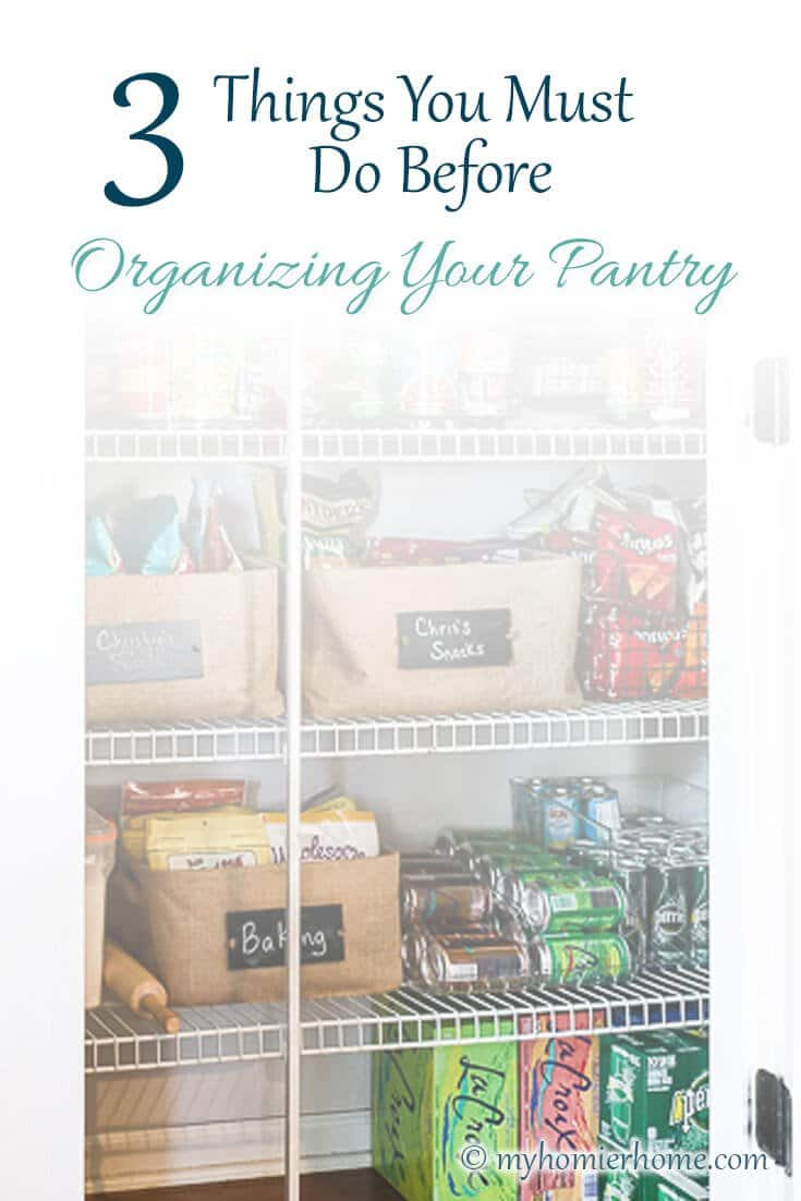 If you've ever struggled to organize your pantry, these three secrets have allowed me to live with a functioning pantry longer than I ever have in the past and they can help you too!