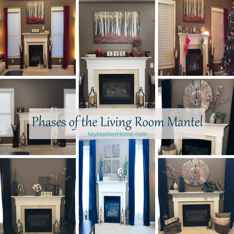 Phases of the Living Room Mantel