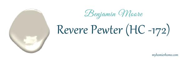 Revere Pewter- Benjamin Moore