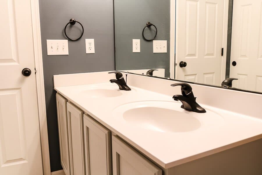 Spray painted faucets