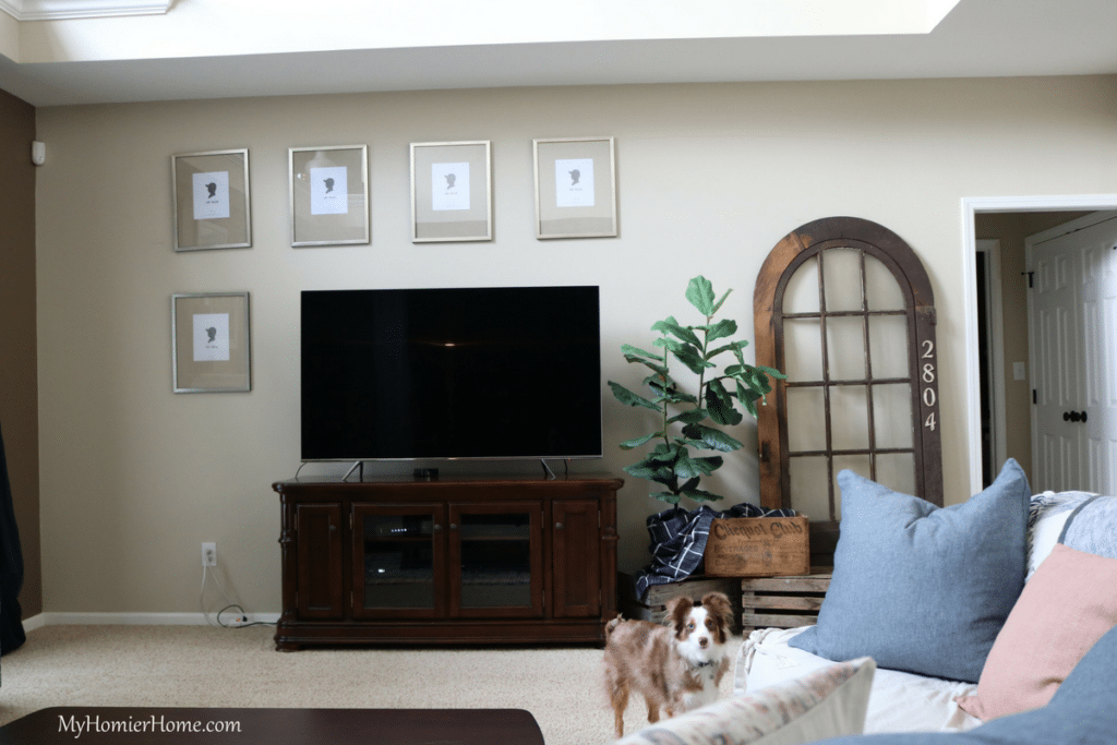 ORC Living Room Refresh Gallery Wall Puppy