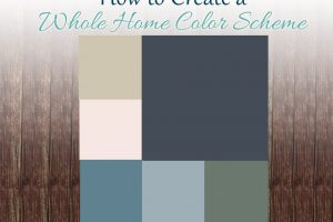 How to create a whole home color scheme to help guide you in choosing paint colors
