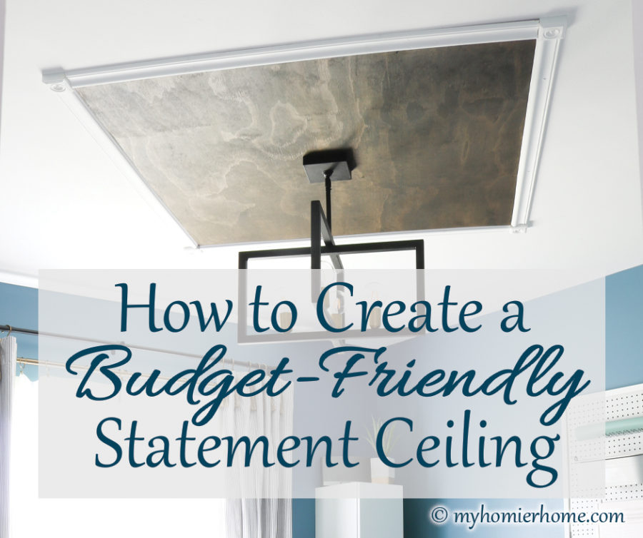 Give your room a wow factor with this wood statement ceiling tutorial. It's not only budget-friendly but beautiful too! Learn how to create one!