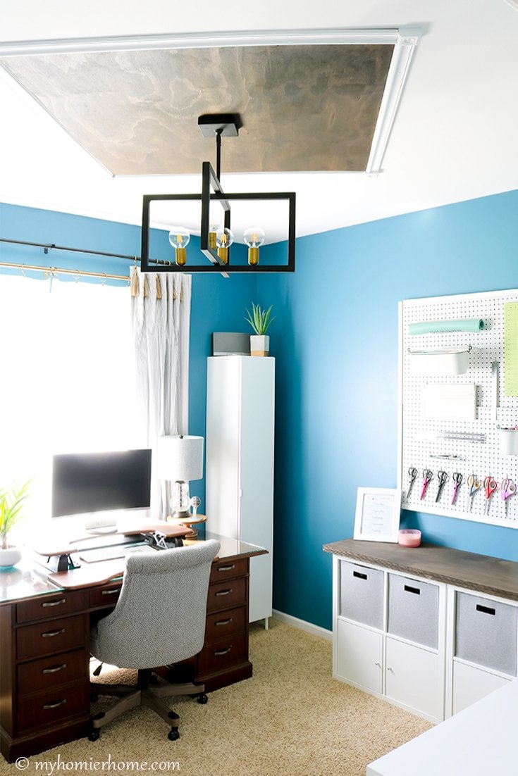 Want to give your room a little wow factor? This wood statement ceiling tutorial is not only budget-friendly, but also beautiful! Learn how to create one!