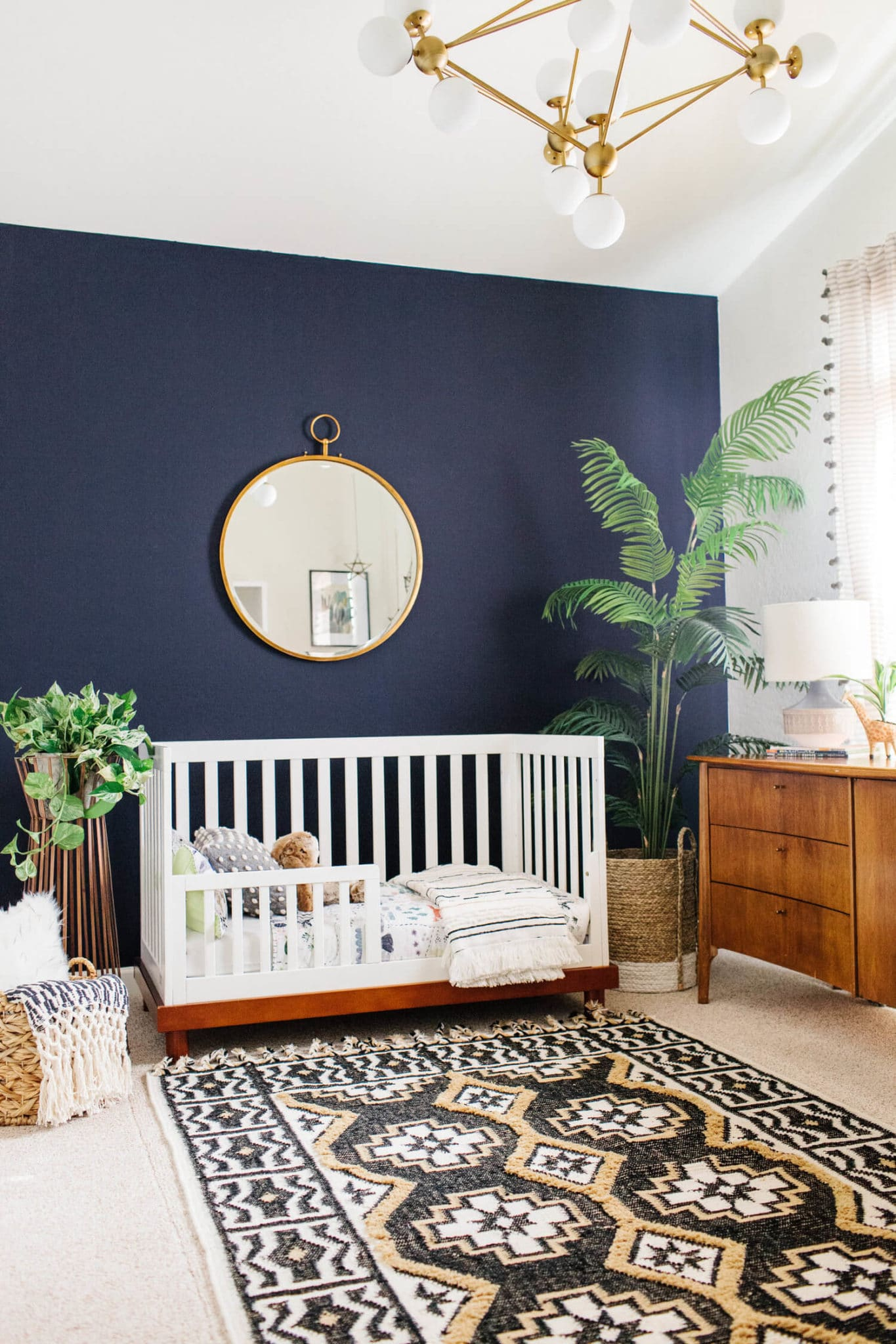 I'm in love with the navy and green in this avestyles.com nursery