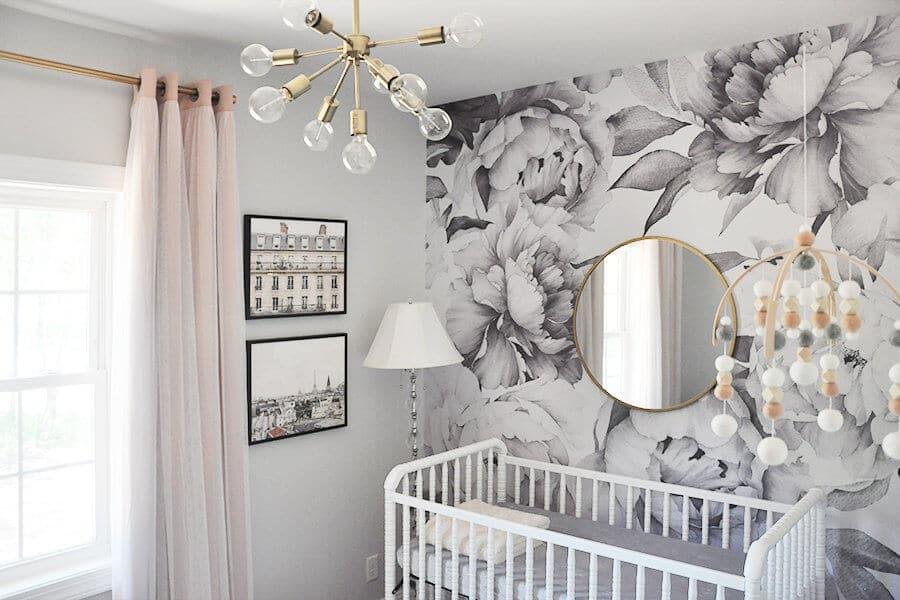 Baby Girl Nursery Ideas Accent Walls Animal Themes