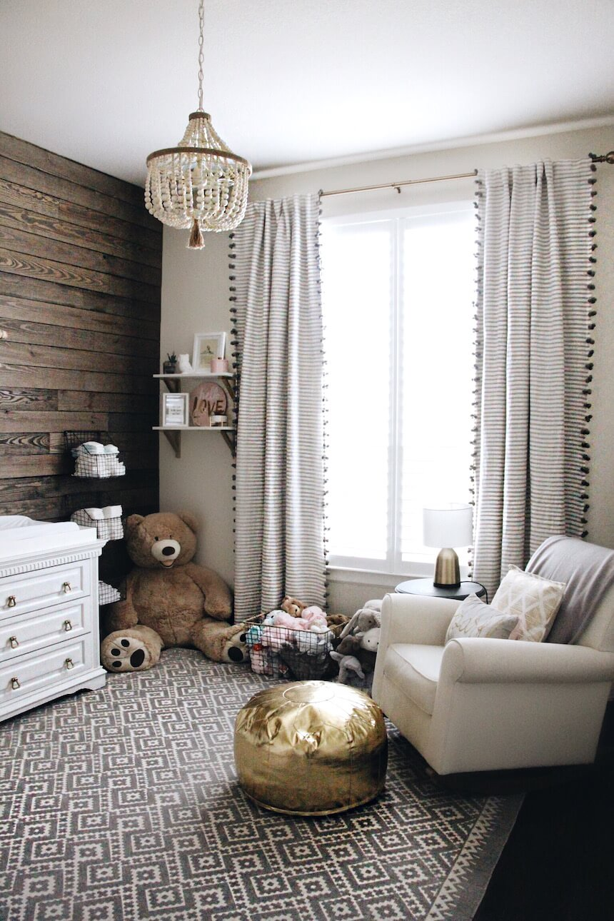 Check out this cool rustic nursery at somewherelately.com